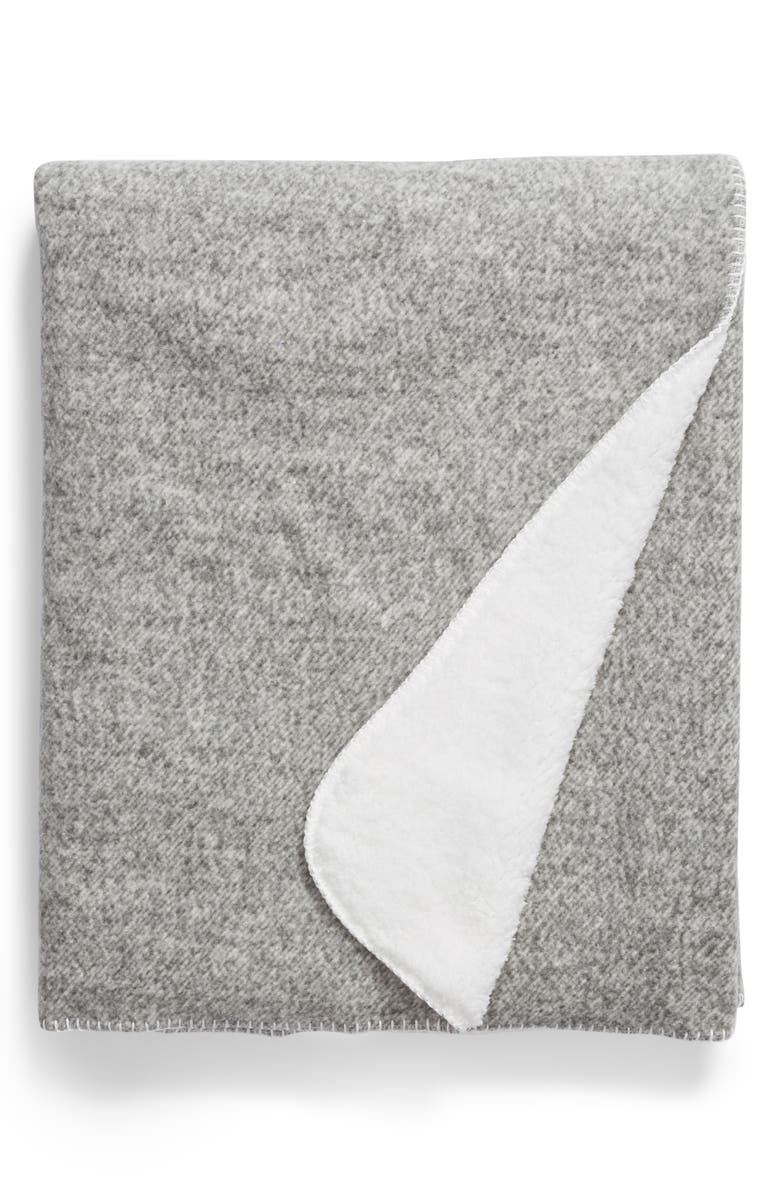 NORDSTROM AT HOME Heather Faux Shearling Throw, Main, color, GREY FROST
