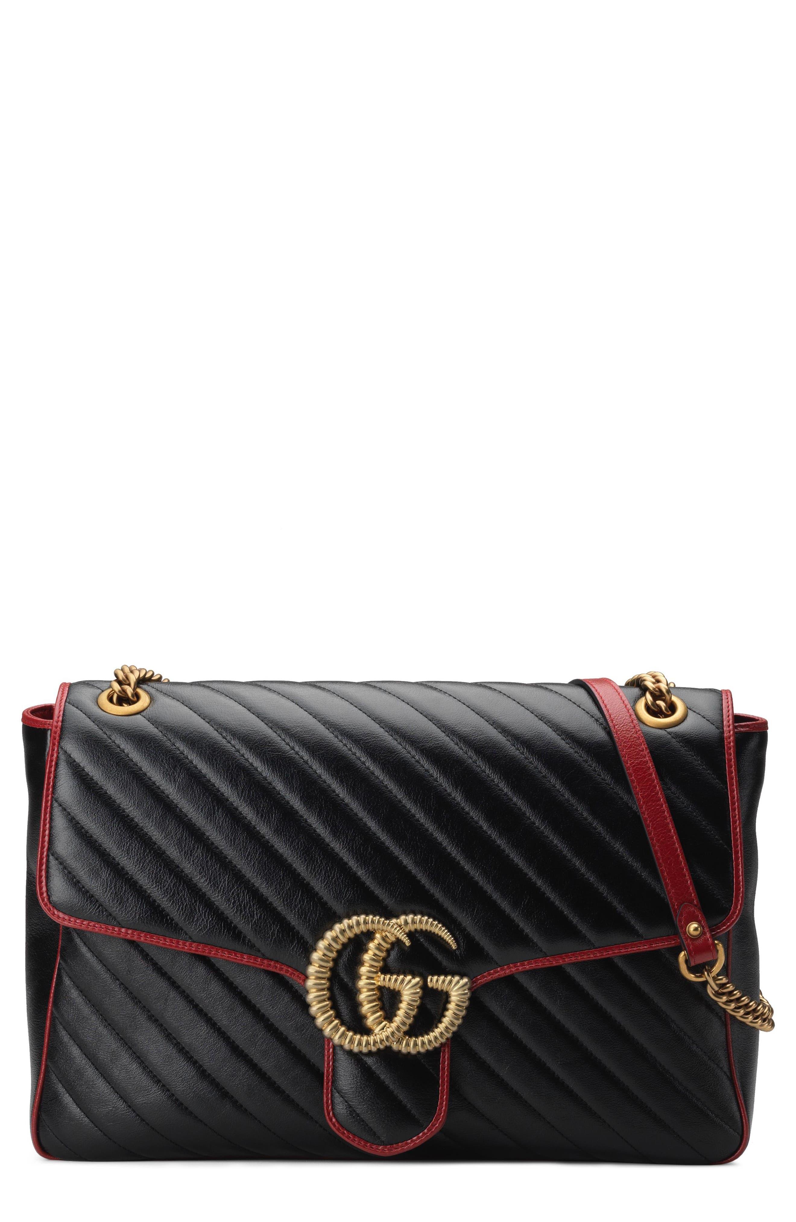 ab1cee661 Gucci Large Gg Marmont 2.0 Matelasse Leather Shoulder Bag - Black