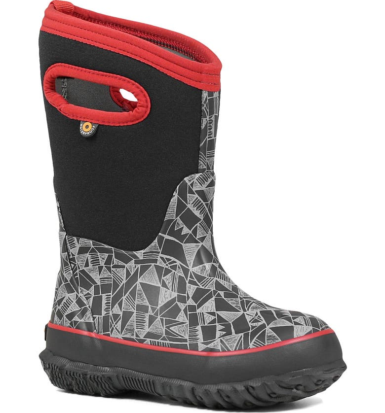 BOGS Classic Maze Geo Insulated Waterproof Boot, Main, color, BLACK MULTI