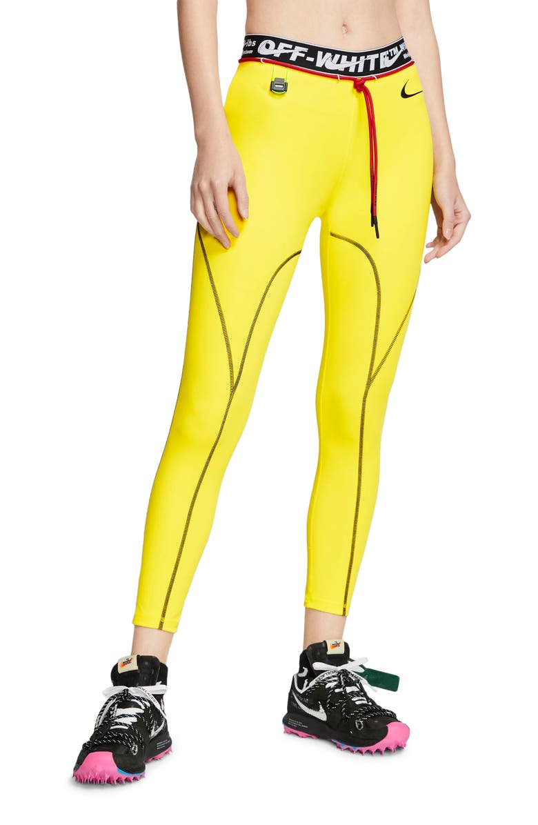 NIKE x Off-White Pro Training Tights, Main, color, OPTI YELLOW