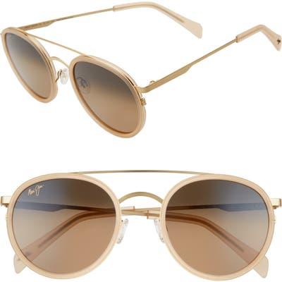 Maui Jim Even Keel 51mm Polarizedplus2 Sunglasses - Beige Gold/ Bronze