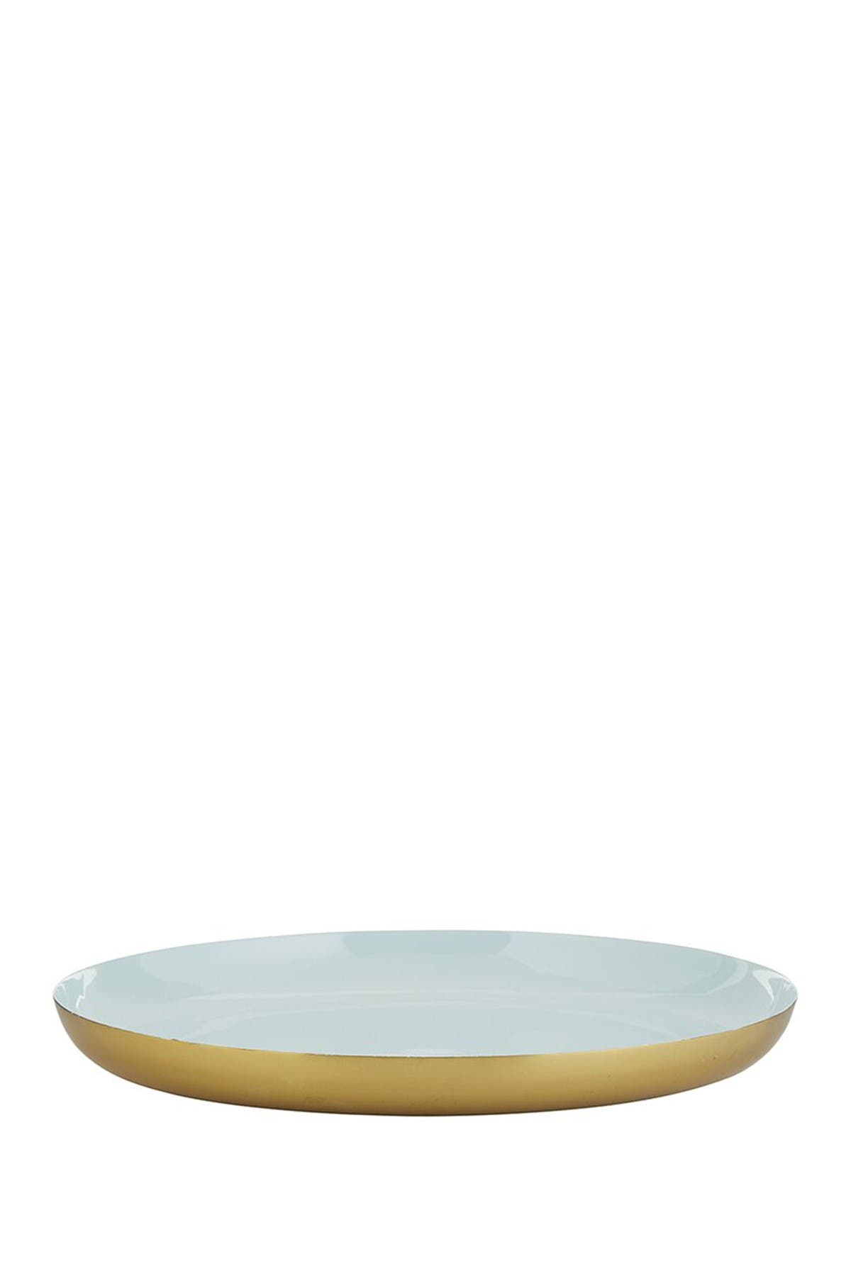 CREATIVE BRANDS Blue And Gold Round Tray