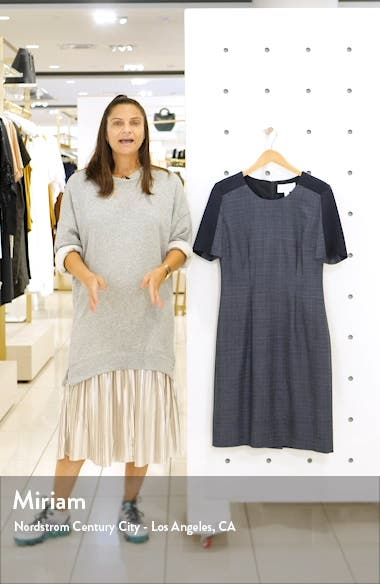 Dirusa Crosshatch Virgin Wool Short Sleeve Dress, sales video thumbnail