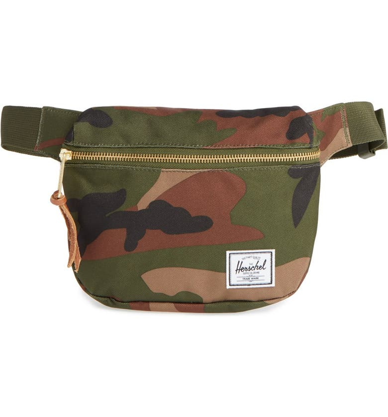HERSCHEL SUPPLY CO. Fifteen Belt Bag, Main, color, WOODLAND CAMO