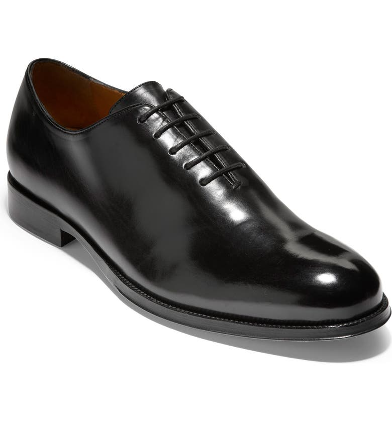 COLE HAAN American Classics Gramercy Whole Cut Shoe, Main, color, BLACK LEATHER