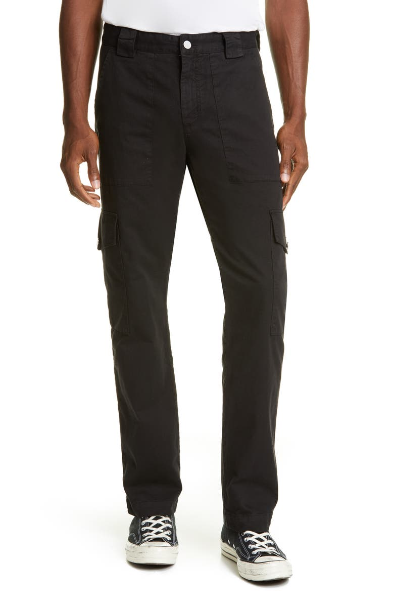 BILLY LOS ANGELES Patch Pocket Twill Cargo Pants, Main, color, BLACK