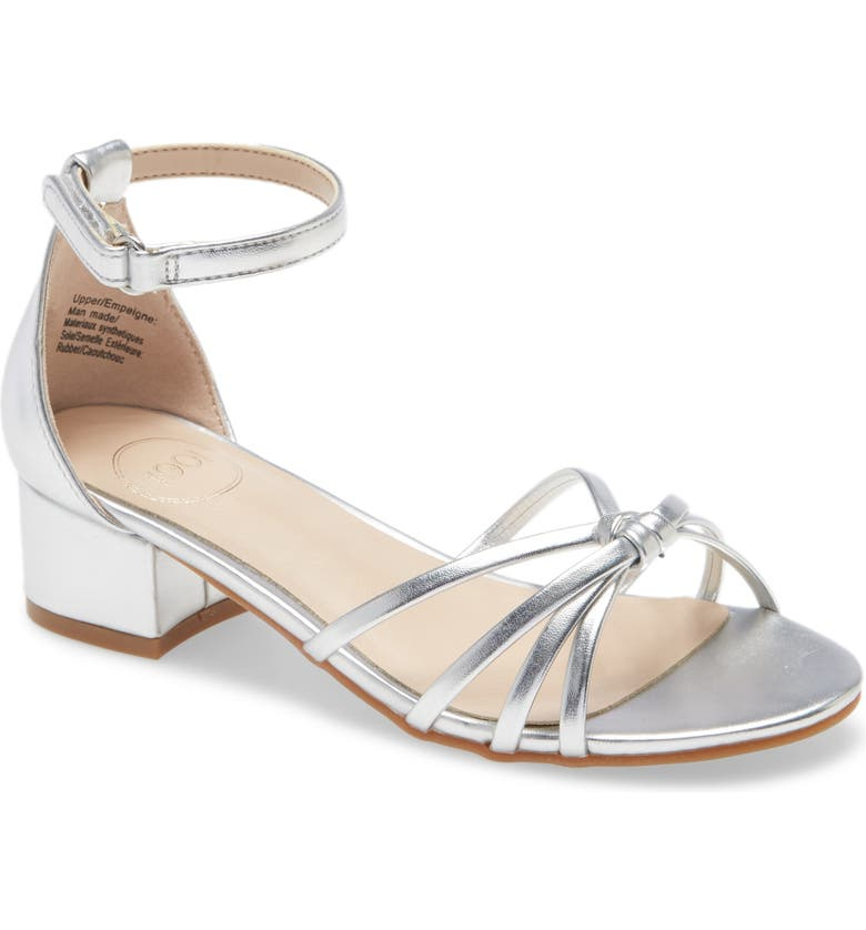 1901 Butterfly Takedown Metallic Sandal, Main, color, SILVER FAUX LEATHER