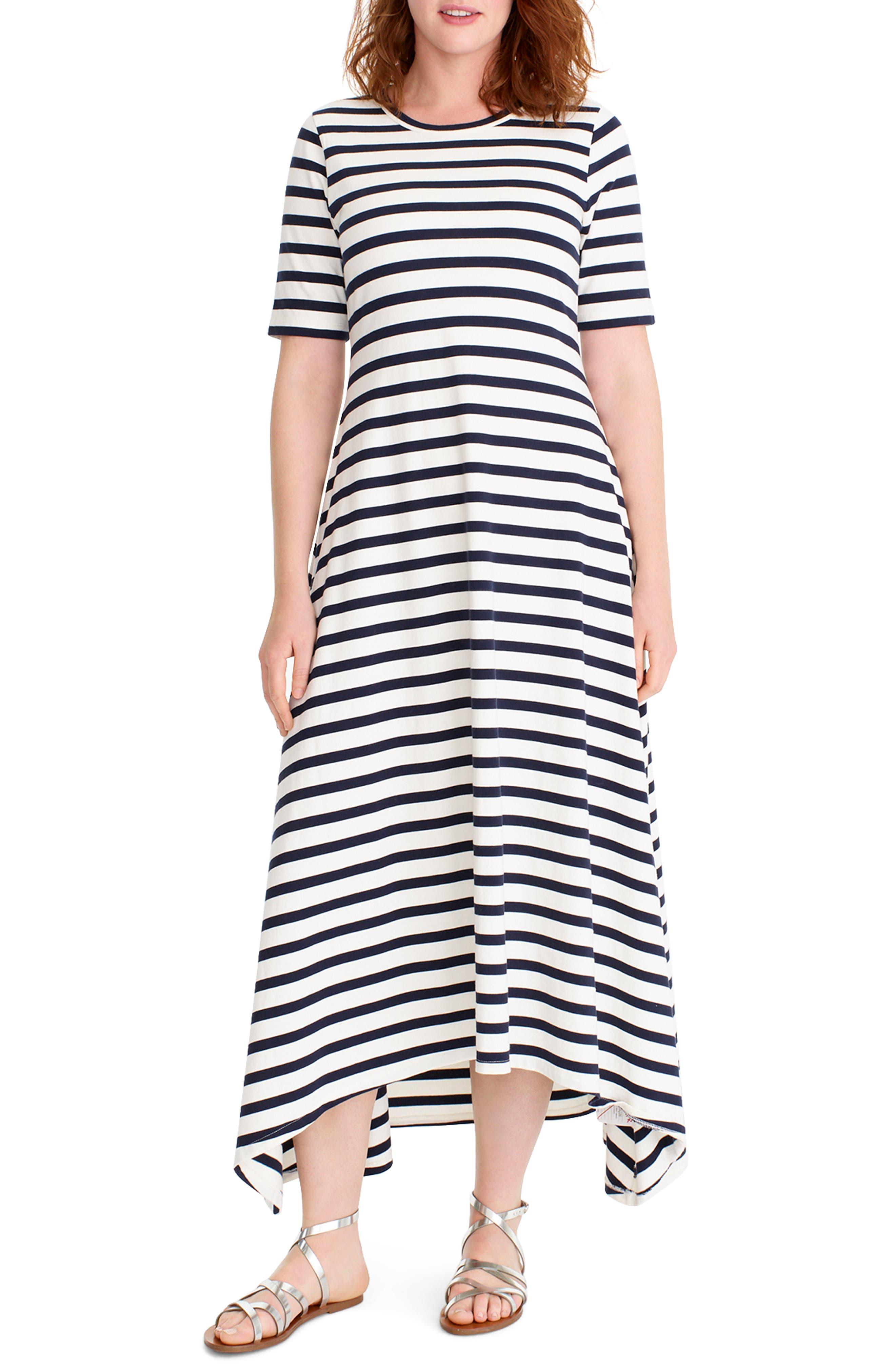 J.crew Stripe Knit Maxi Dress, White