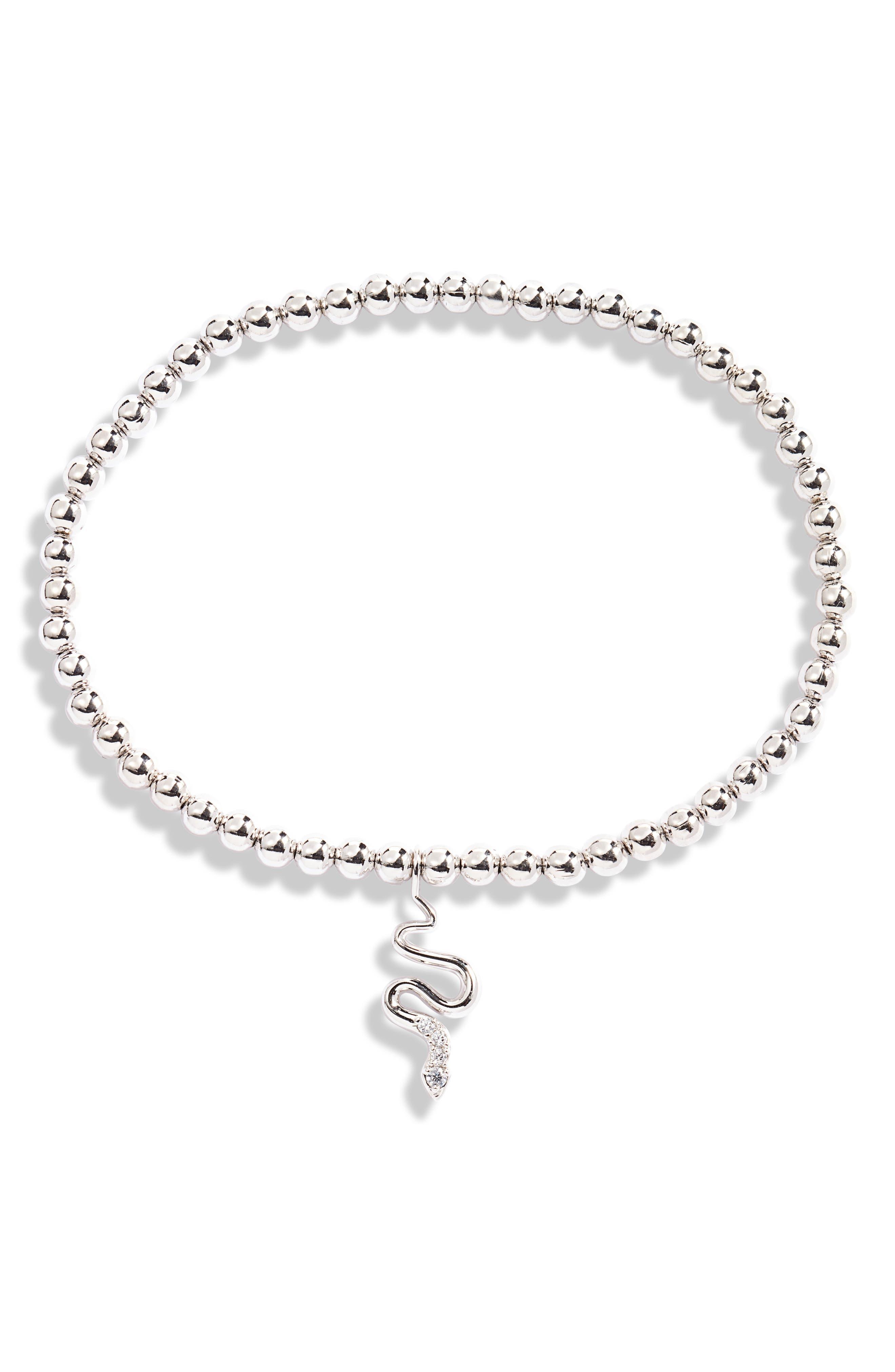 Snake Beaded Stretch Bracelet