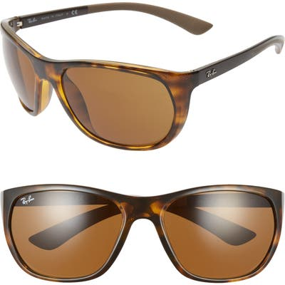 Ray-Ban 61Mm Wrap Sunglasses - Havana