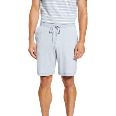 Daniel Buchler Stretch Cotton & Modal Pajama Shorts, Blue