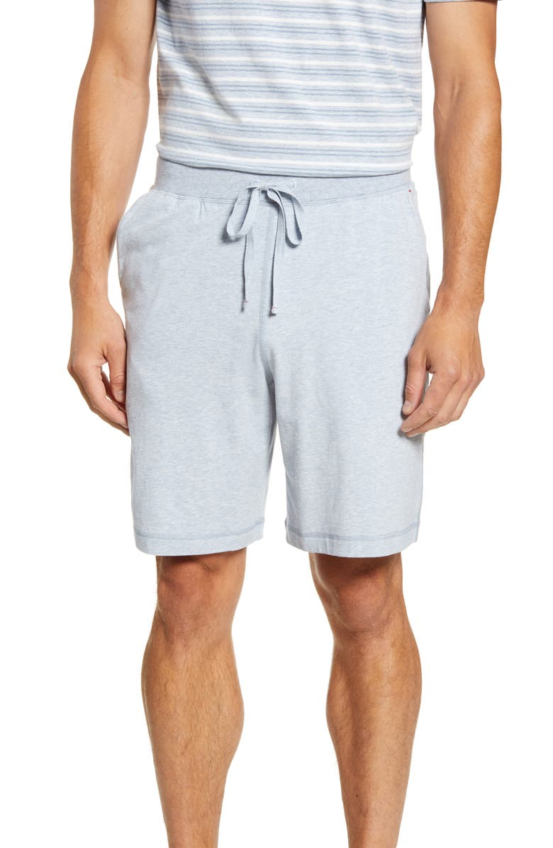 DANIEL BUCHLER Stretch Cotton & Modal Pajama Shorts, Main, color, 406