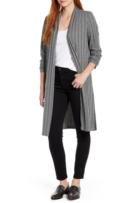 Image of Bobeau Rib Sweater Cardigan Duster Coat