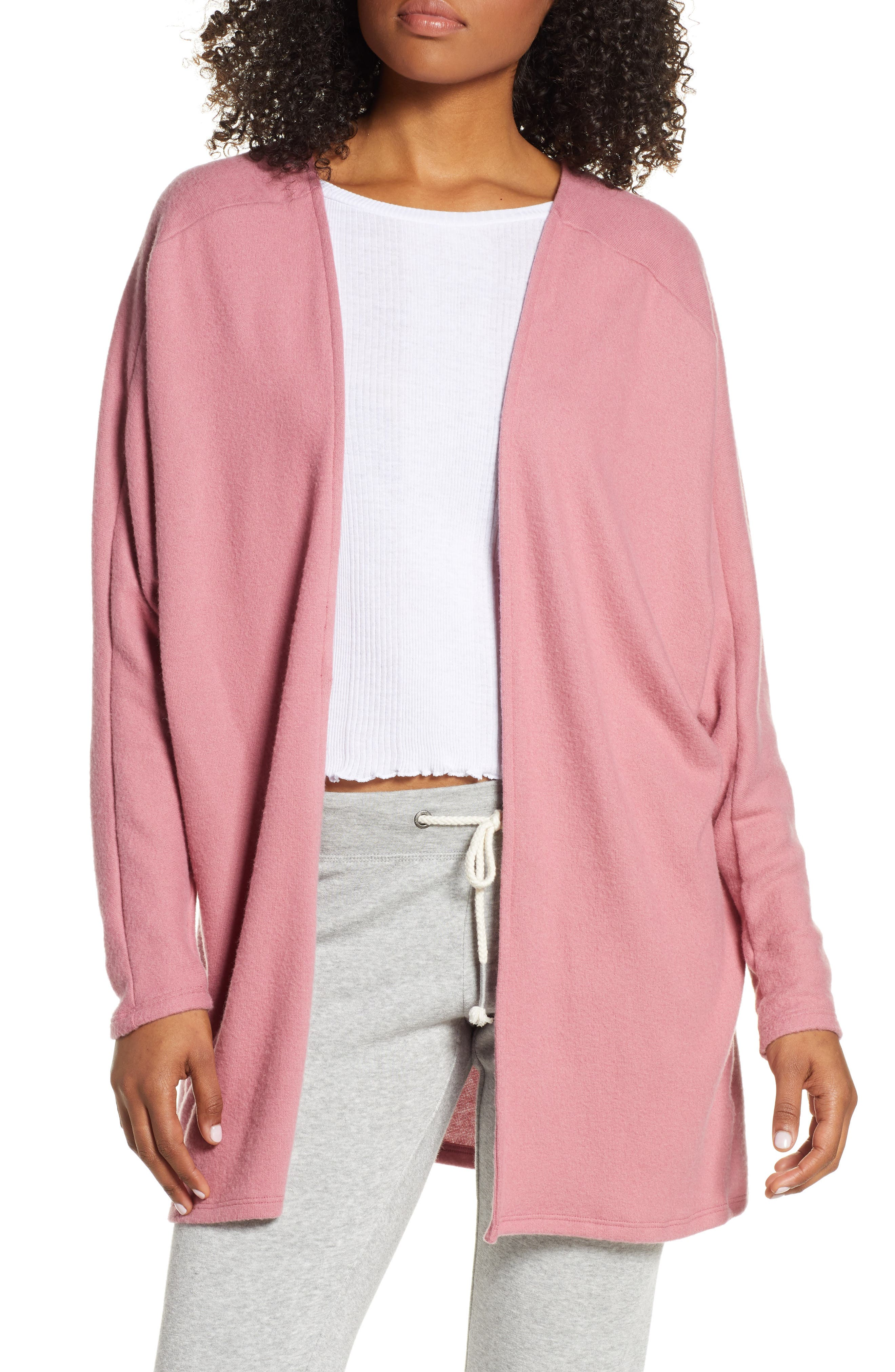 Project Social T Rumine Cozy Cardigan, Pink