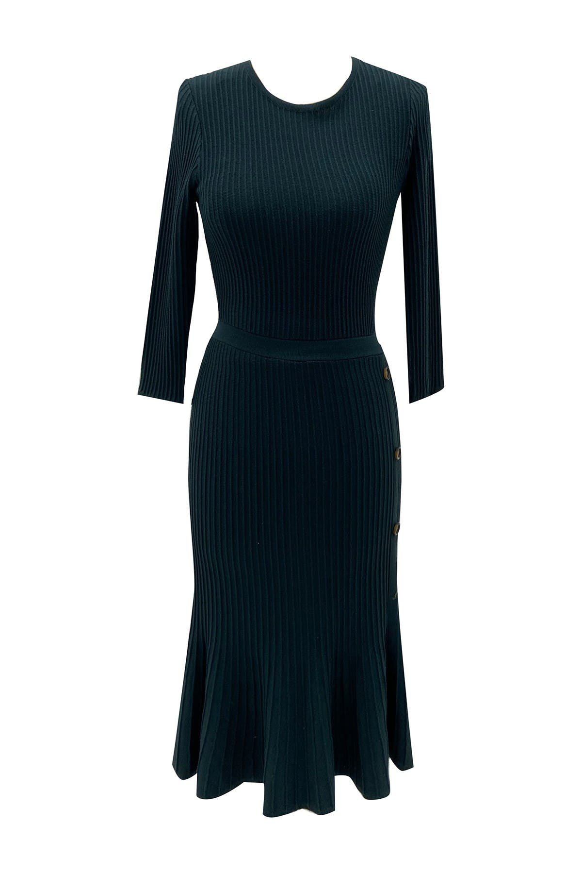 Image of Sandra Darren 3/4 Sleeve Sweater Dress