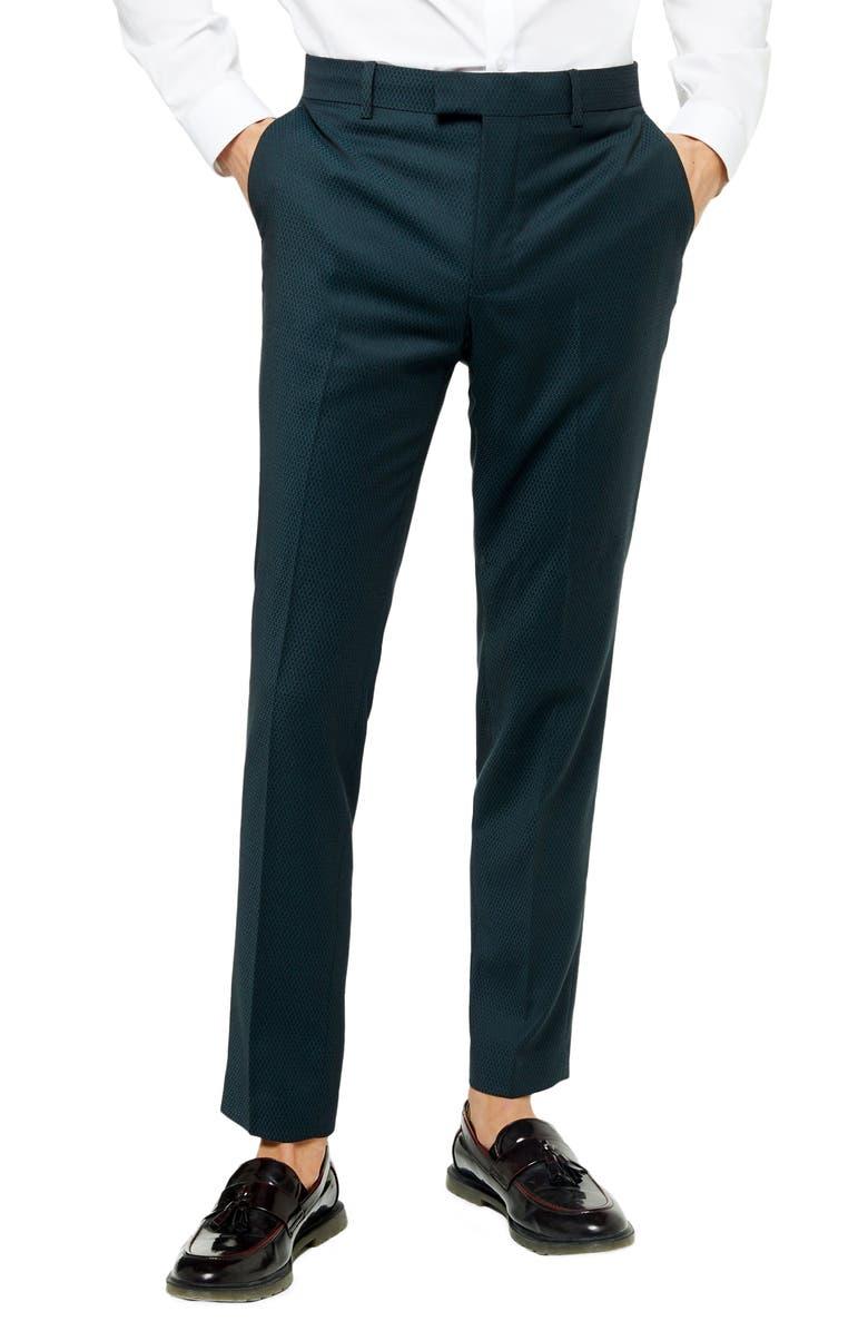 TOPMAN Maverick Skinny Fit Trousers, Main, color, BLUE