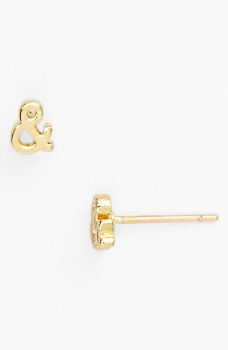 KATE SPADE NEW YORK 'say yes' ampersand stud earrings, Main, color, 710
