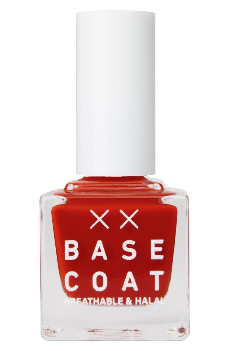 BASE COAT Breathable & Halal Nail Polish, Main, color, HIBISCUS