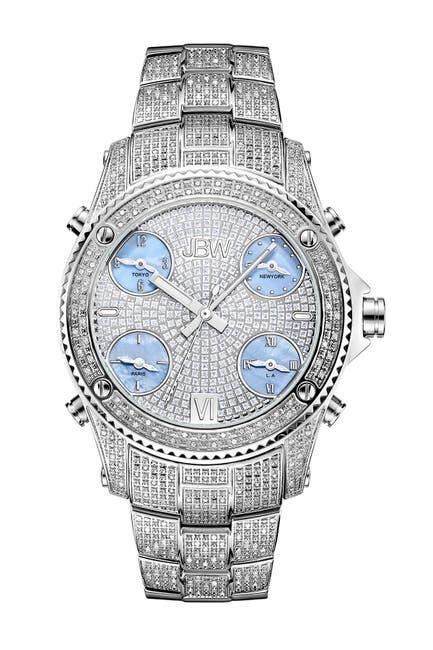 Image of JBW Men's Jet Setter Diamond Watch, 56mm - 2.34 ctw