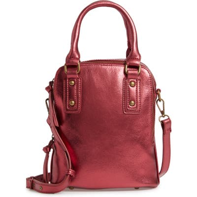 Malibu Skye Triple Compartment Faux Leather Satchel - Red