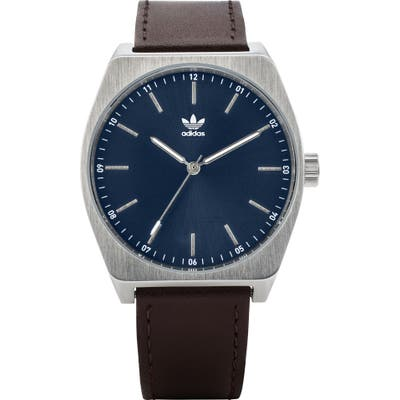 Adidas Process Leather Strap Watch,