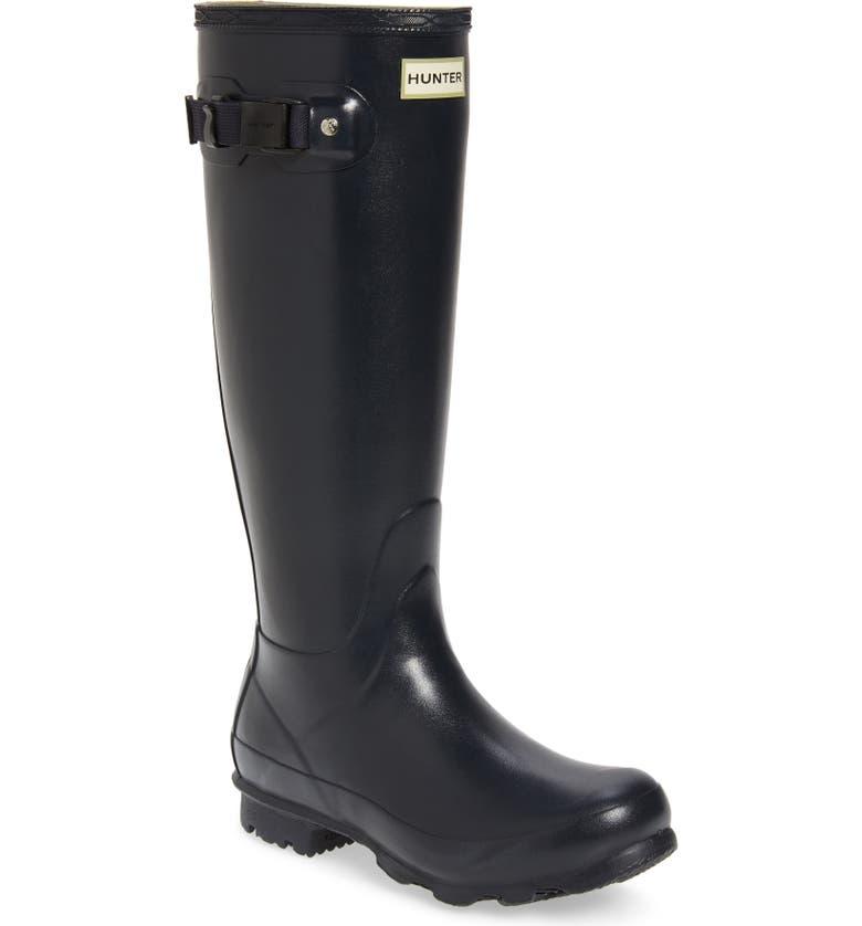 HUNTER Norris Field Waterproof Boot, Main, color, NAVY