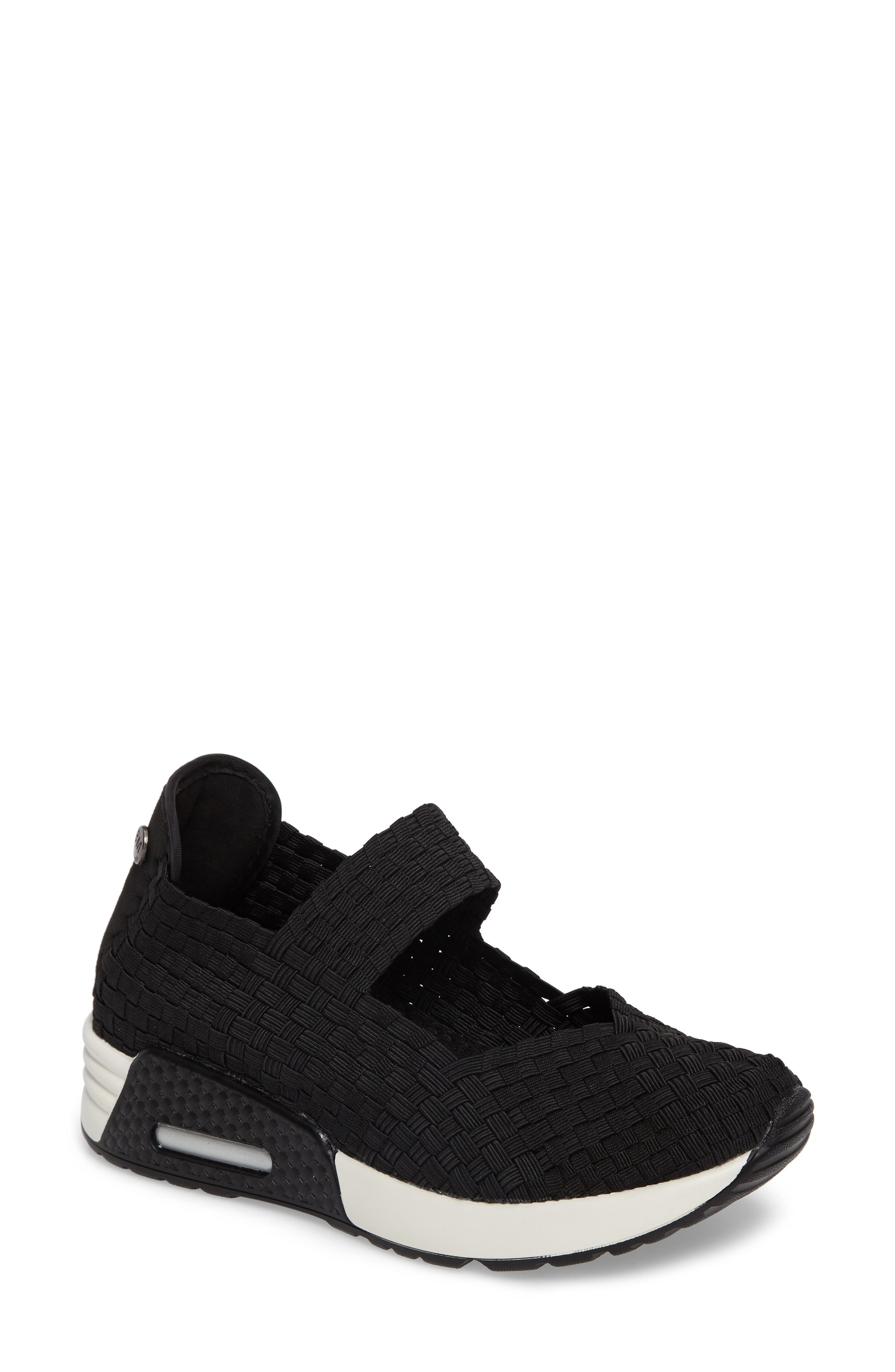 ,                             Best Charm Mary Jane Sneaker,                             Main thumbnail 1, color,                             BLACK FABRIC