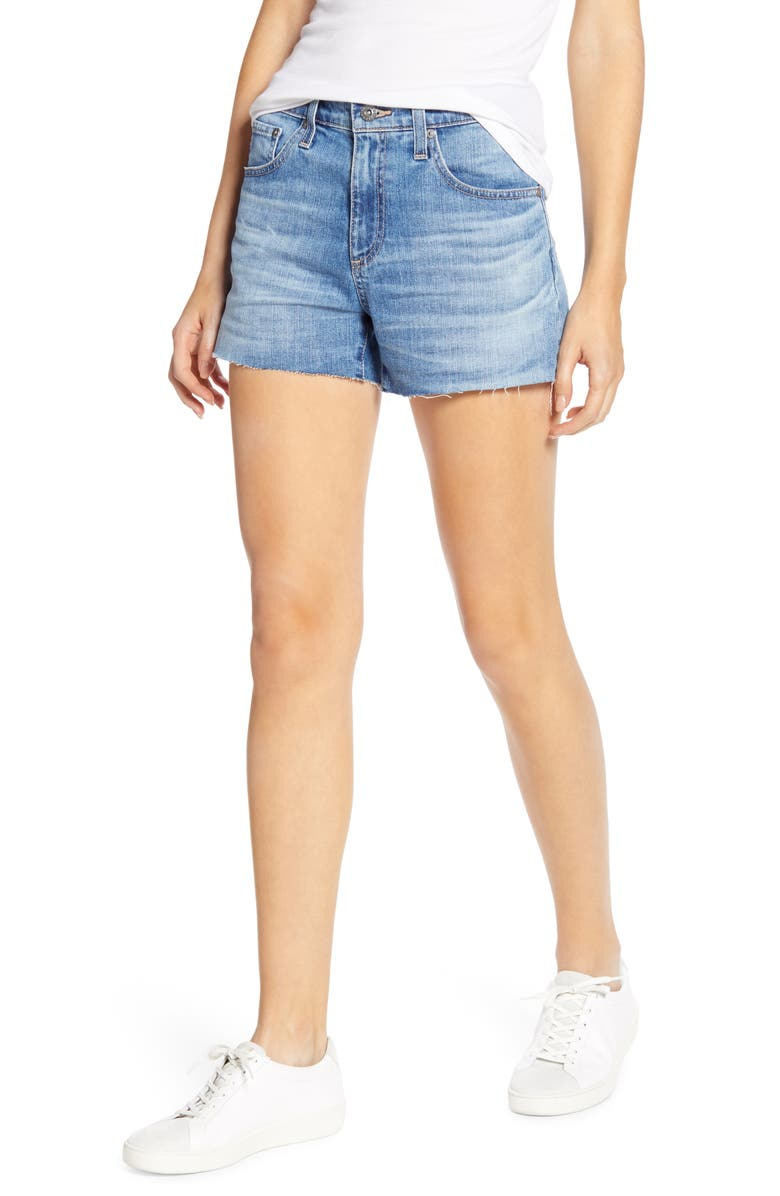 AG Hailey Boyfriend Cutoff Denim Shorts, Main, color, 20 YEARS DUPLICITY
