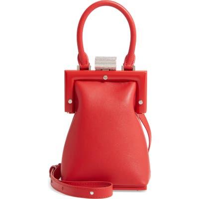 Perrin Le Mini Calfskin Leather Top Handle Bag - Red