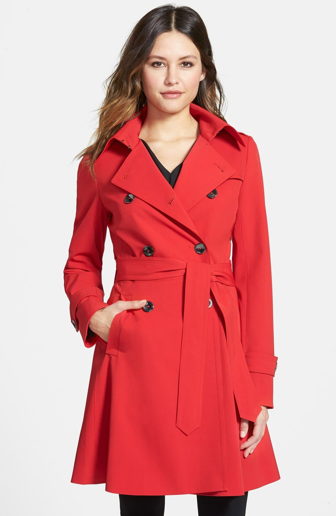 ,                             'Juliette' Double Breasted Skirted Trench Coat,                             Main thumbnail 7, color,                             600