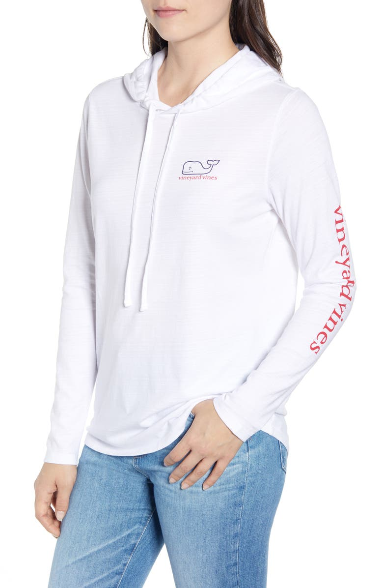 VINEYARD VINES Two Tone Vintage Whale Slub Sweatshirt, Main, color, WHITE CAP