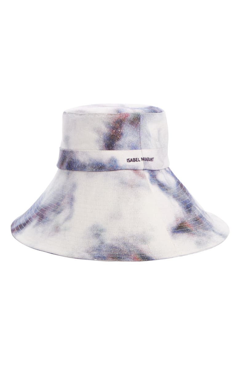 ISABEL MARANT Noliae Slouchy Tie Dye Bucket Hat, Main, color, 400