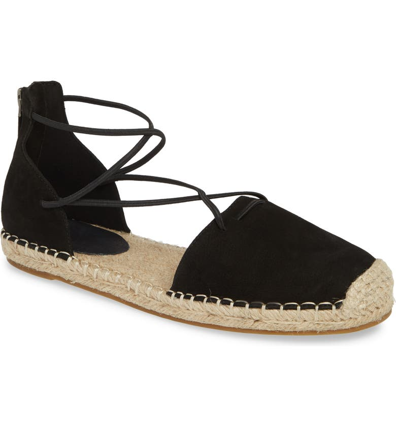 EILEEN FISHER Lace Espadrille, Main, color, BLACK/ BLACK SUEDE