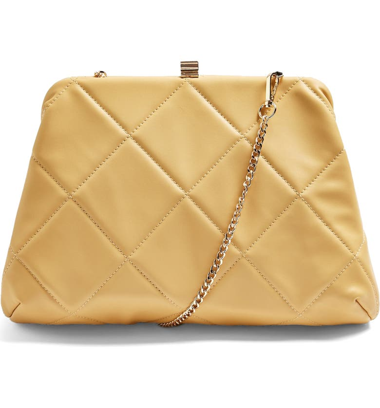 TOPSHOP Oversize Quilted Bag, Main, color, BUTTERMILK