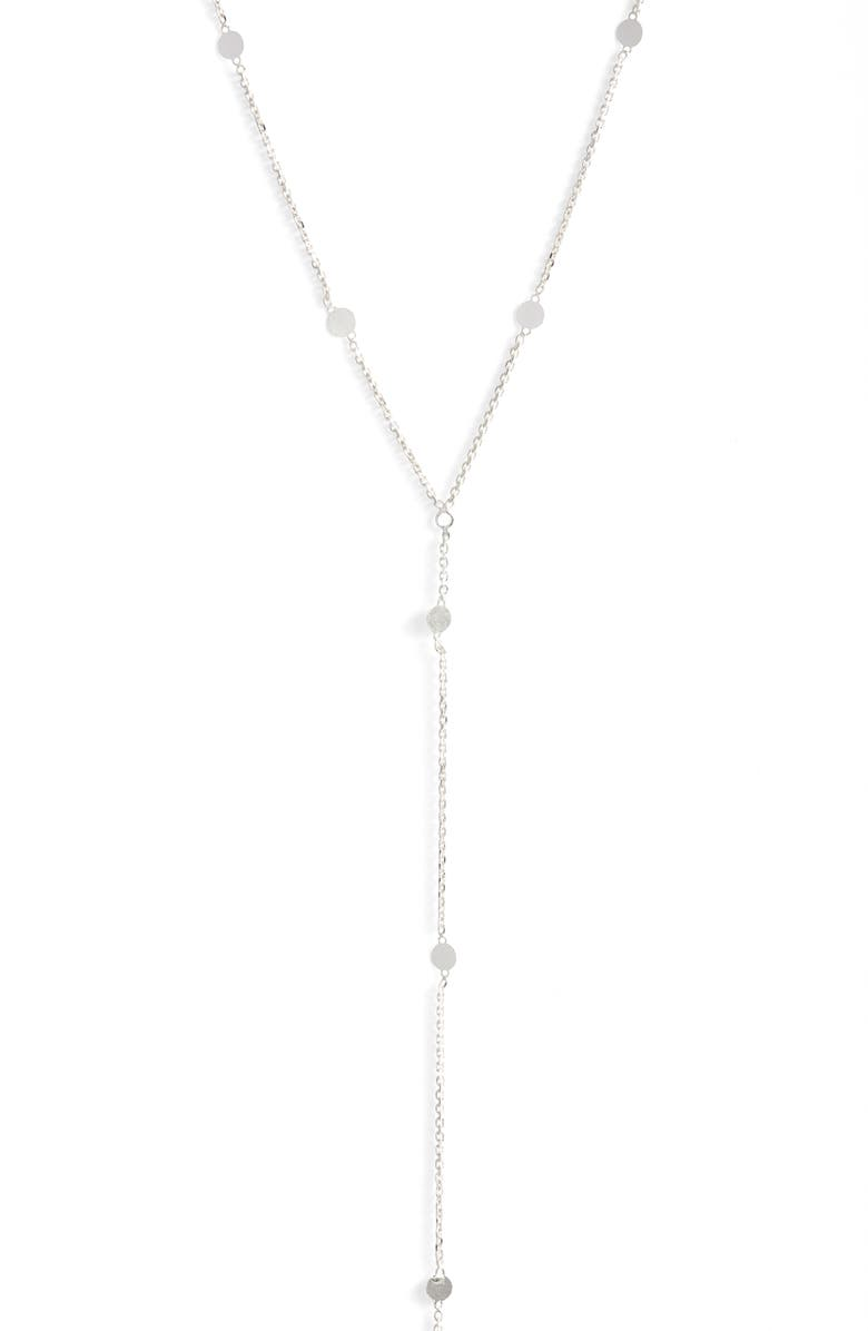 ARGENTO VIVO STERLING SILVER Argento Vivo Mirror Station Long Y-Necklace, Main, color, 040