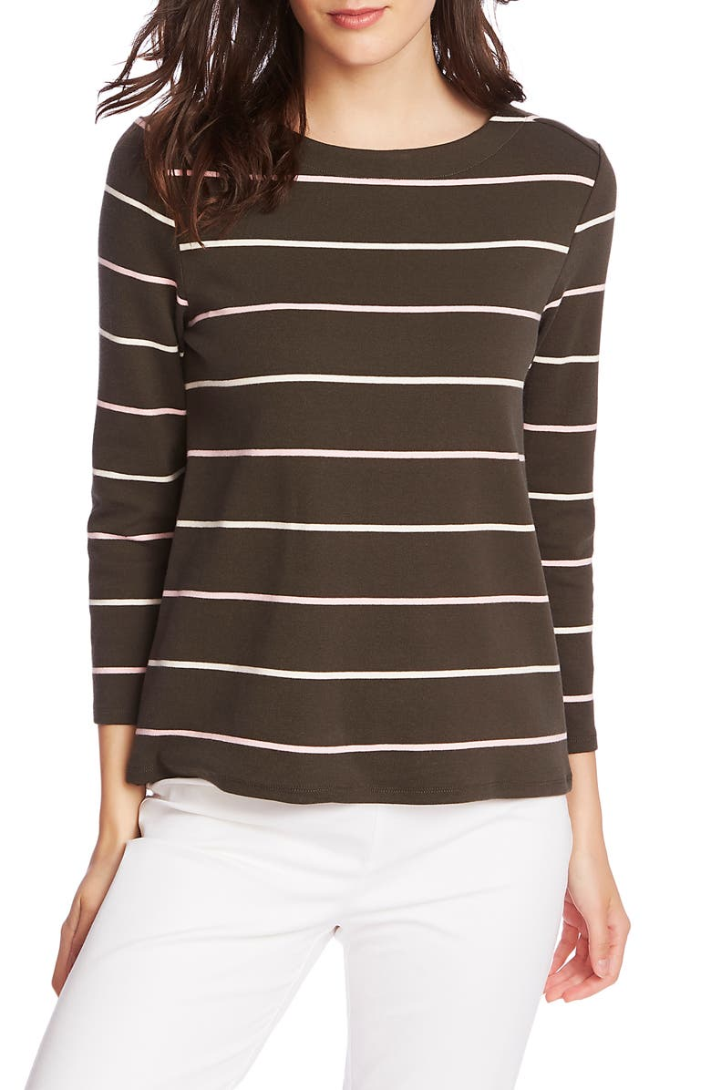 COURT & ROWE Volley Stripe Knit Top, Main, color, 321