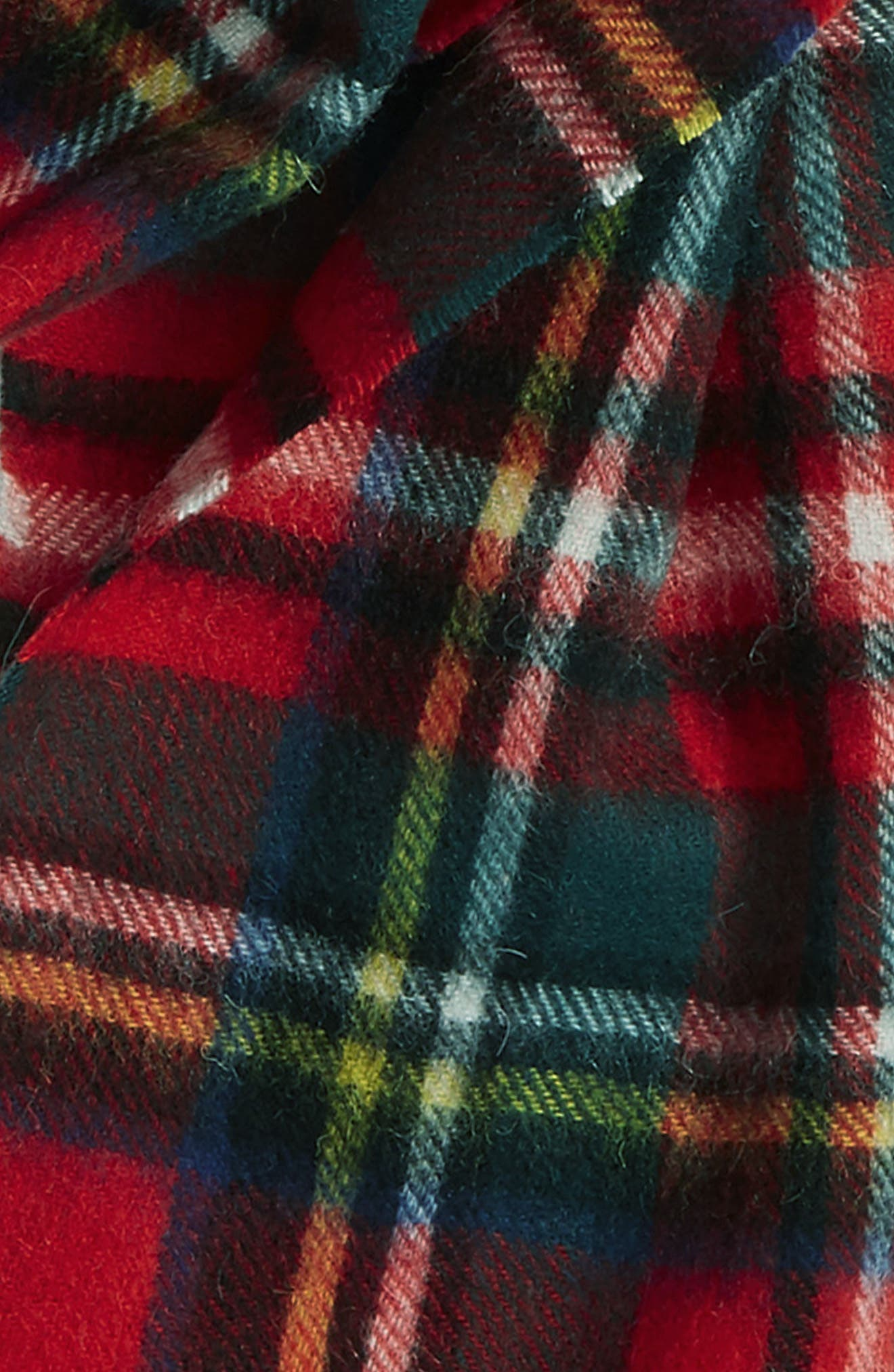 ,                             New Check Lambswool & Cashmere Scarf,                             Alternate thumbnail 16, color,                             430
