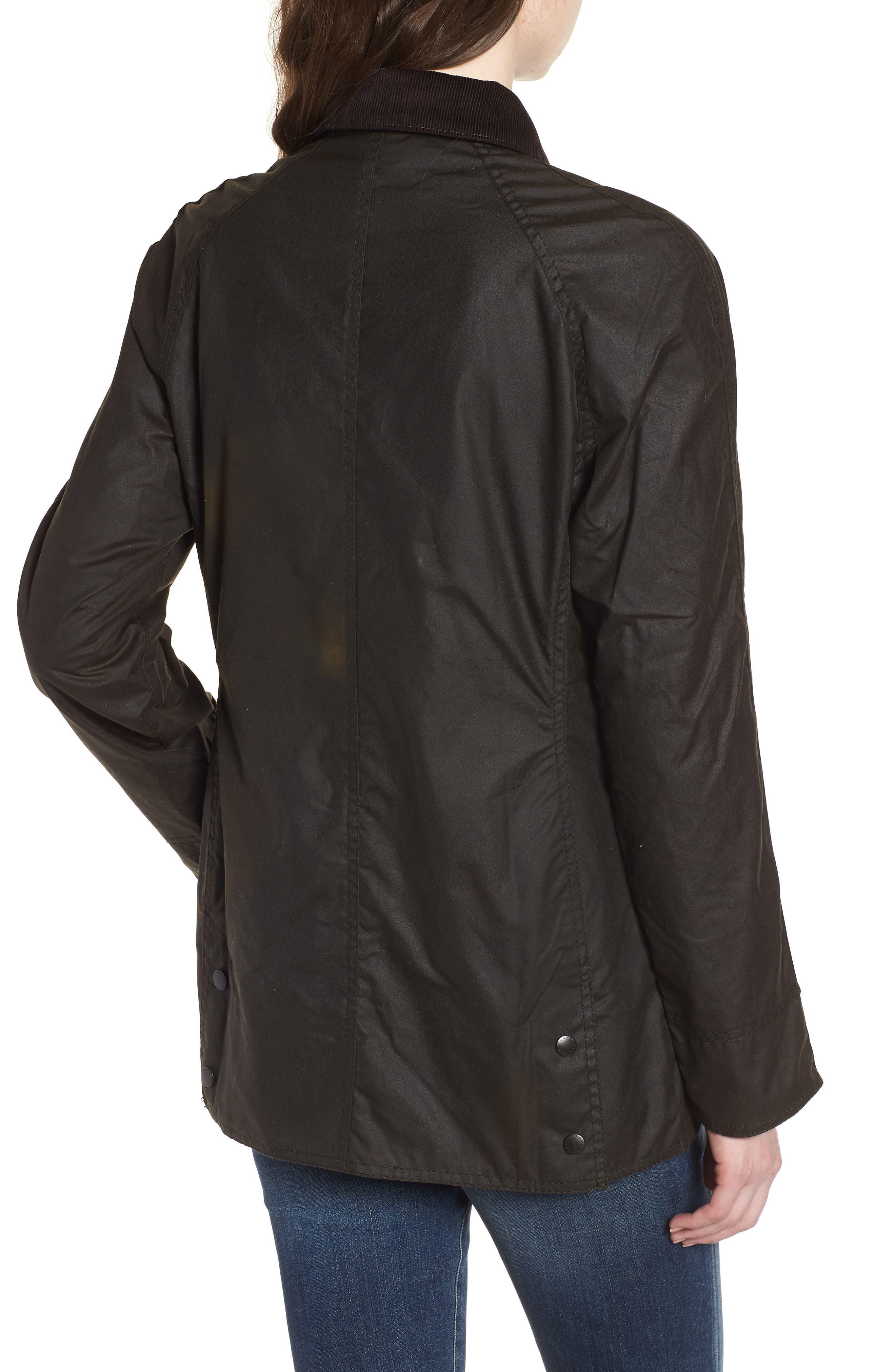 ,                             Beadnell Waxed Cotton Jacket,                             Alternate thumbnail 2, color,                             300