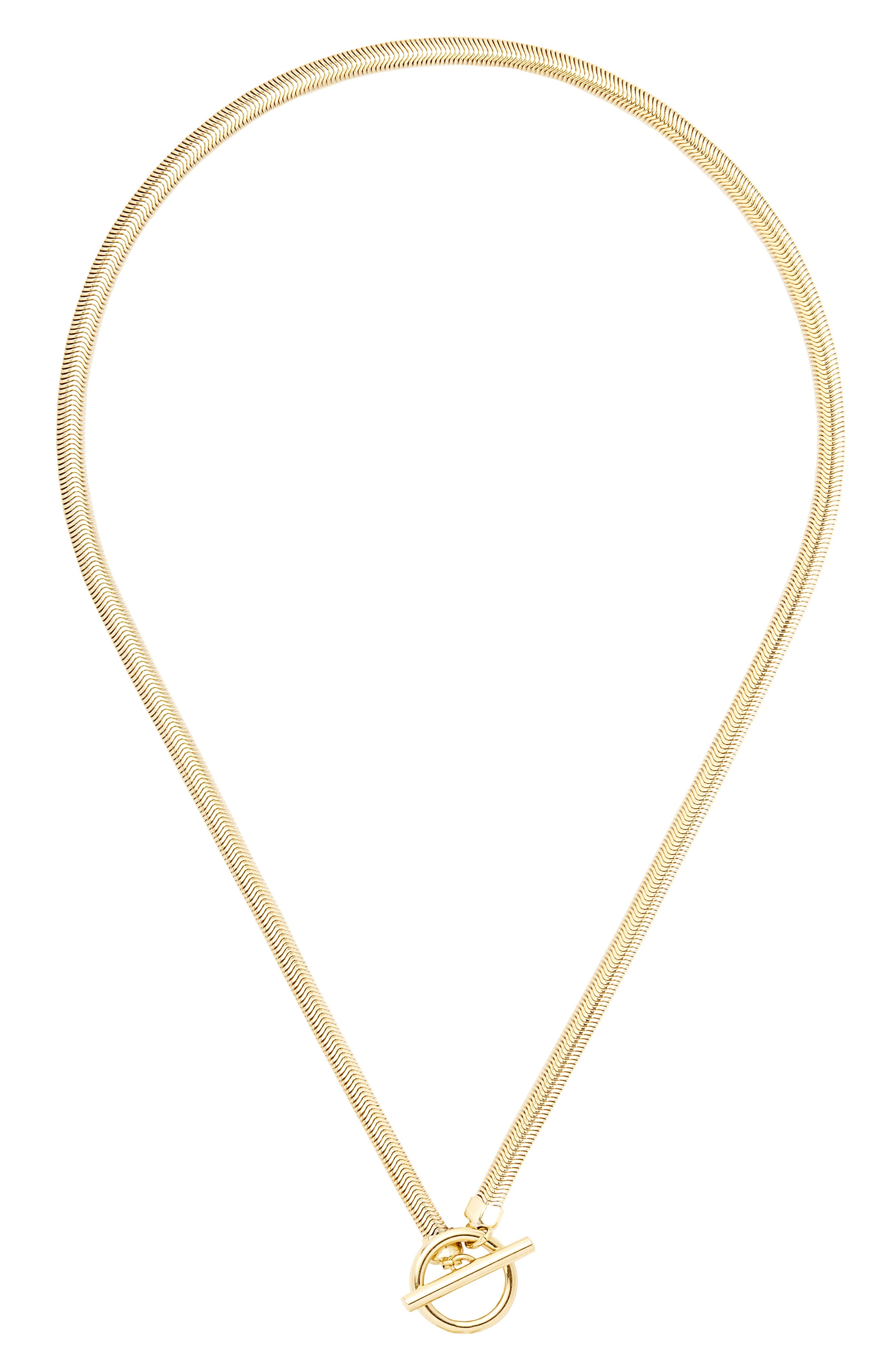 Izzy Herringbone Toggle Necklace