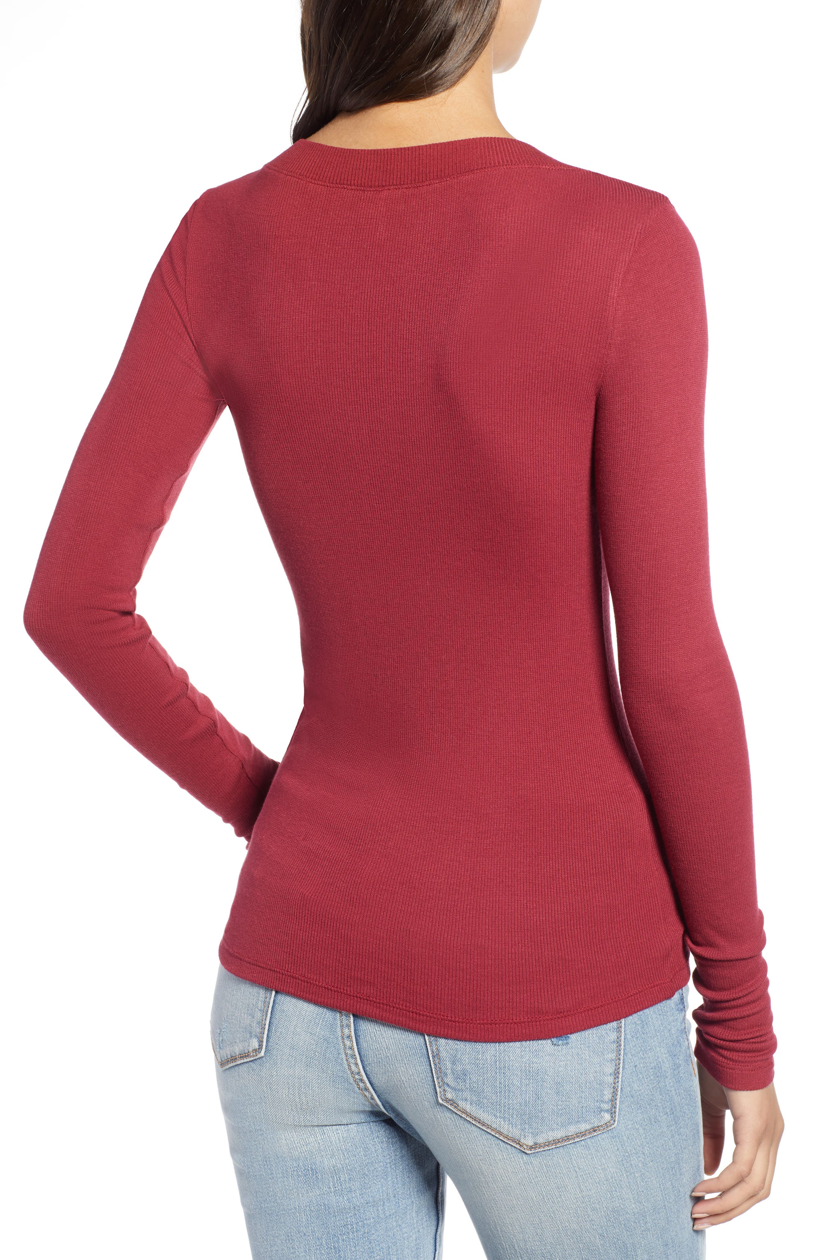 ,                             Fitted V-Neck Tee,                             Alternate thumbnail 8, color,                             601