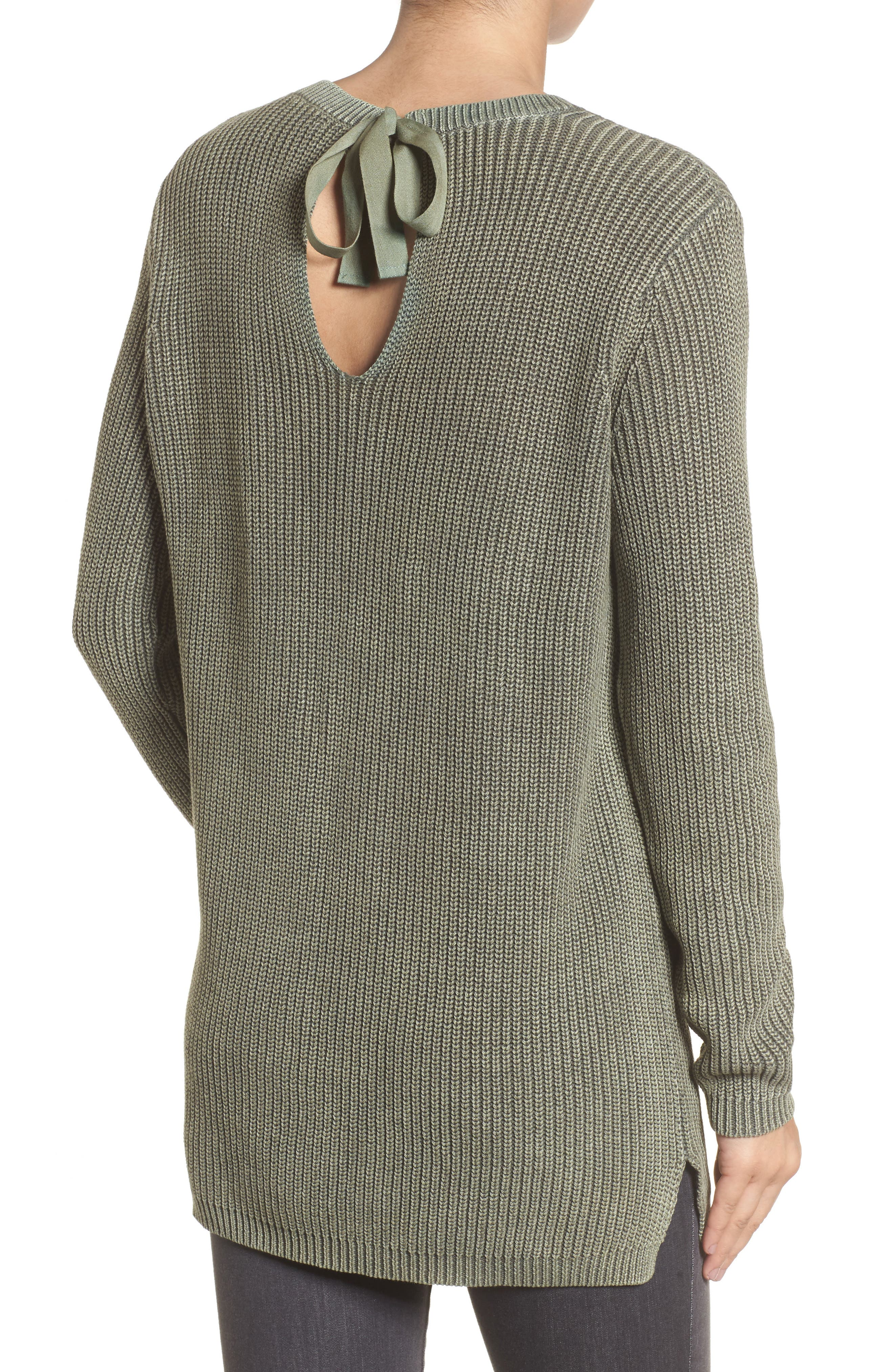 ,                             Tie Back Tunic Sweater,                             Alternate thumbnail 8, color,                             311