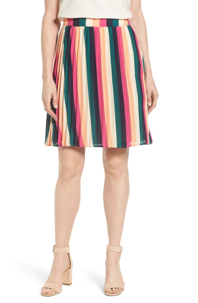 GIBSON x International Women's Day Thamarr Pleated Skirt, Main, color, 007
