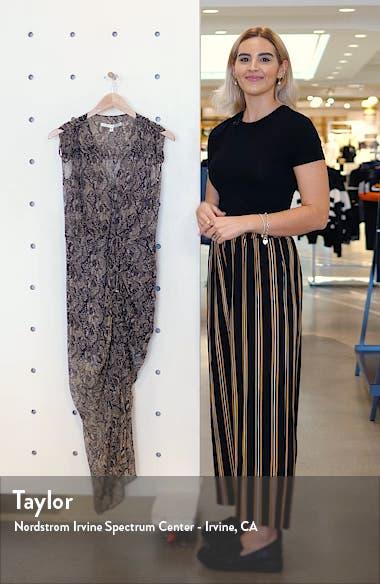 Teagan Snake Print Ruched Silk Dress, sales video thumbnail