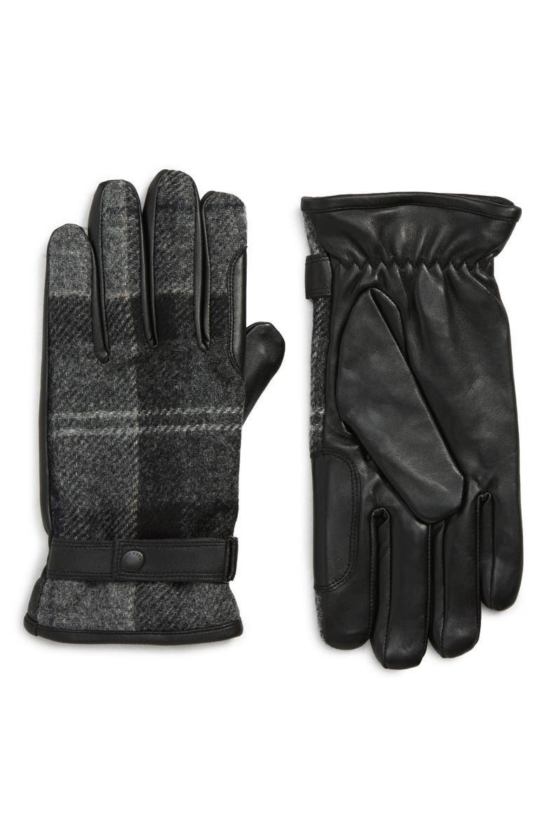 BARBOUR Newbrough Gloves, Main, color, 001