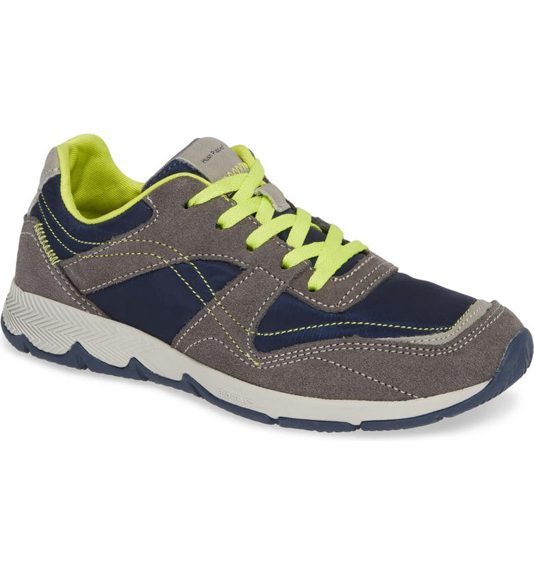 HUSH PUPPIES<SUP>®</SUP> Zev TS Field Sneaker, Main, color, GREY/ NAVY
