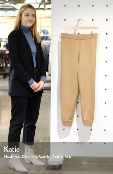 Whipstitch Detail Cashmere Jogger Pants, sales video thumbnail