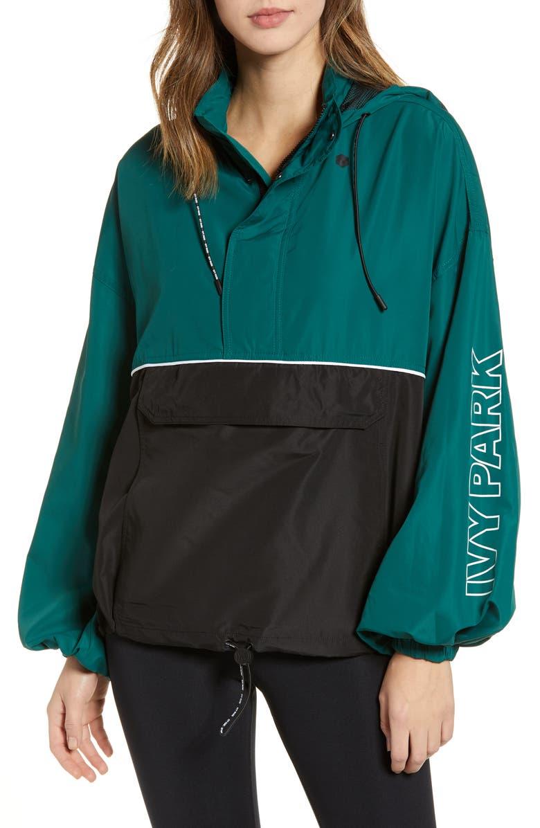 IVY PARK<SUP>®</SUP> Colorblock Half Zip Pullover, Main, color, 300