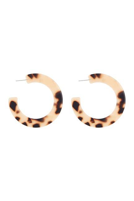Image of Argento Vivo Blonde Tortoiseshell Thick Hoop Earrings