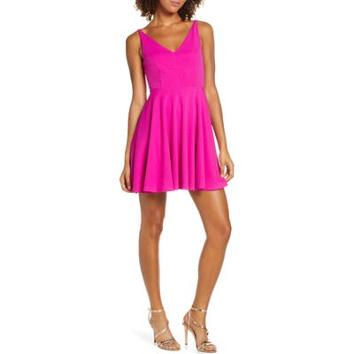Lulus Darling Delight Skater Dress, Pink