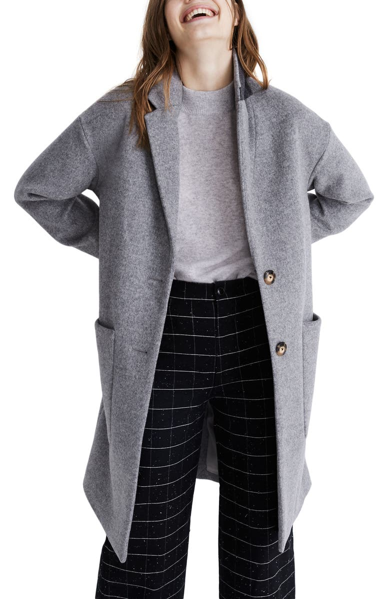 MADEWELL Elmcourt Coat, Main, color, HEATHER CHARCOAL